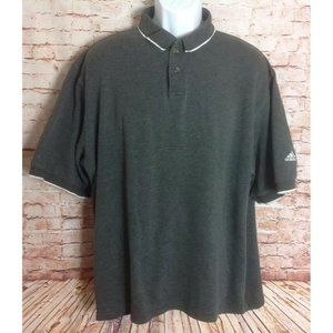 Adidas Climalite Gray Polo Shirt Sz XL
